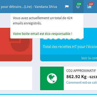 Notifications de la boite mail Ecomail